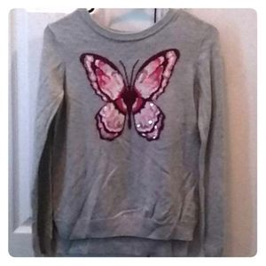 Kids grey butterfly 🦋 sweater